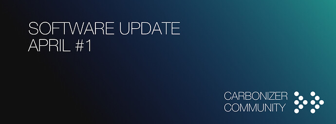 Software Update April 1